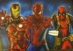 Marvel - 'Team Red' drawing/painting
