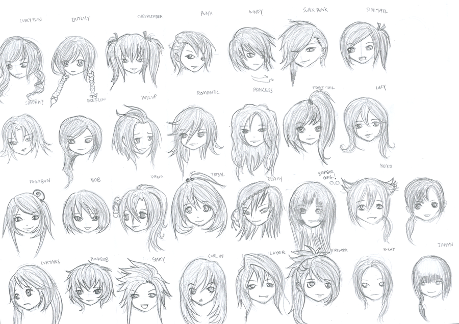 Hairstyles For Girls By Marcusqwj On DeviantArt
