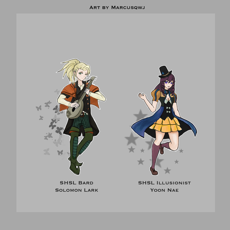 SHSL OCs Coloured (5/8) by Marcusqwj