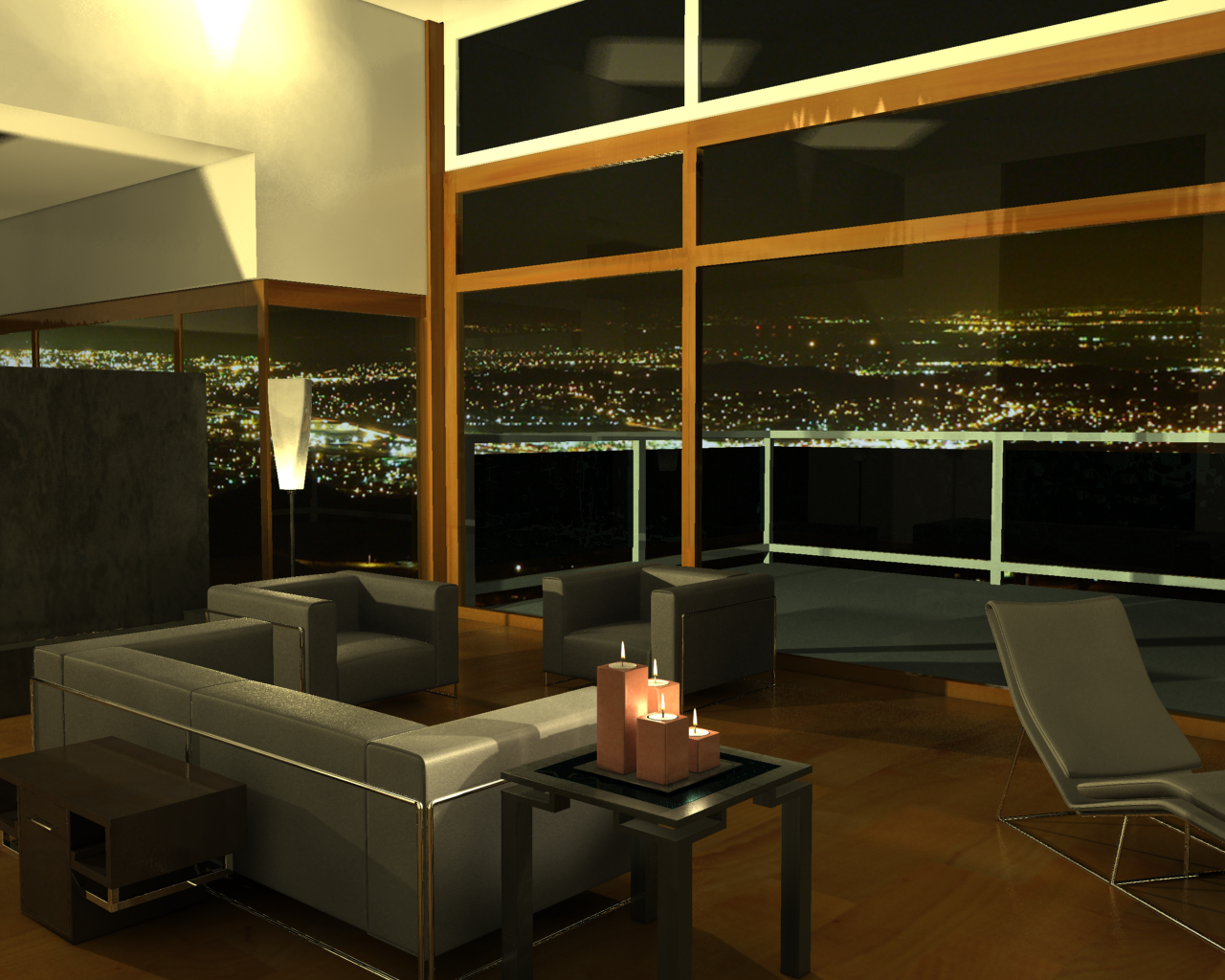 Baltar S Apartment Night By Dwair