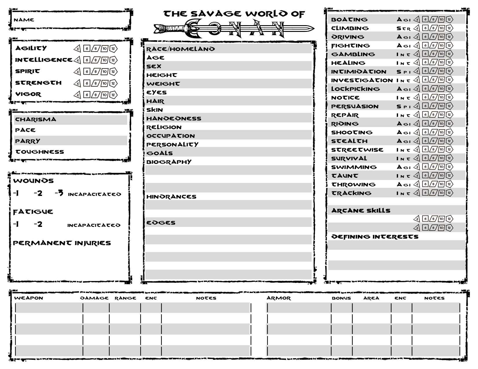 character sheets by psychometron on deviantart
