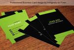 Green tech vertical  business card