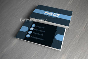 Cool blue business card