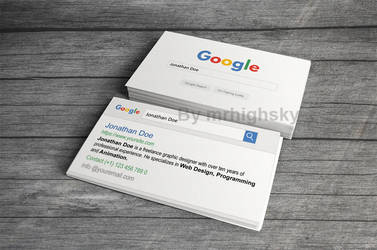 Google search style business card