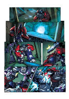 TF:Prime Battle of the Clones page 1 by ZeroMayhem