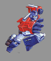 Optimus Prime: Retro by ZeroMayhem