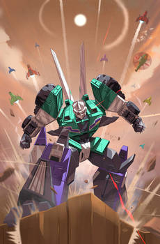 Sixshot: Transformers: Issue 35 Cover