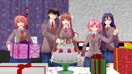 Monika's Birthday Party by SuperMario643DS