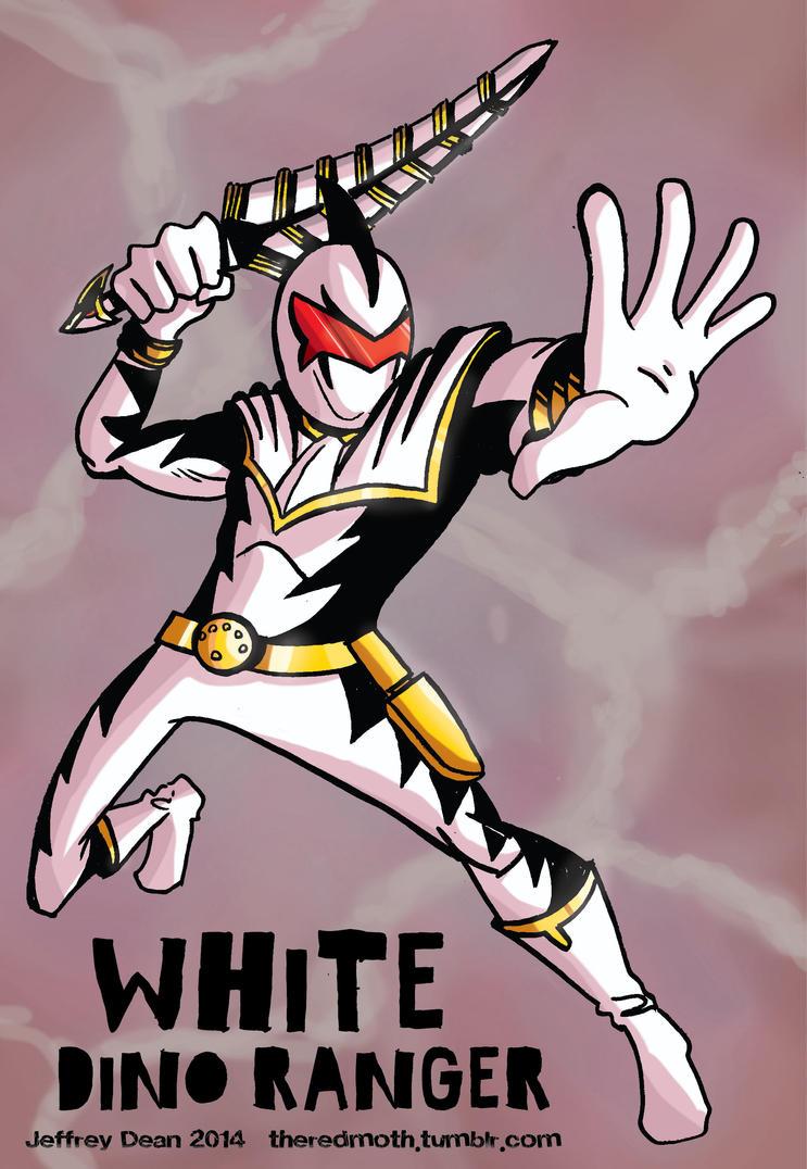 White dino ranger wallpaper