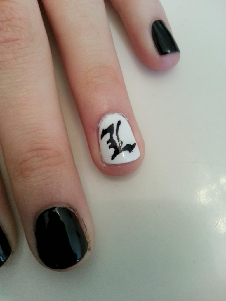 L (Death Note) Nail Art by yoonhee on DeviantArt