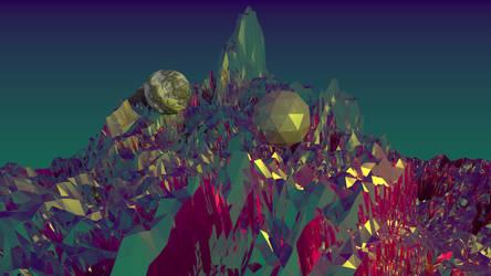 Fractal mountains and 2 weird balls