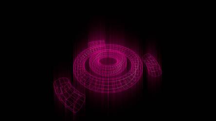 Ubuntu purple glaring logo