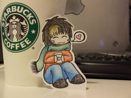 Nao loves Starbucks by Moonshadow87