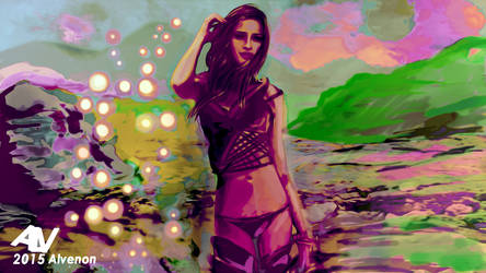 concept art base prueba - la mujer de Selene