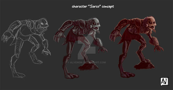 Sarco character by Alvenon
