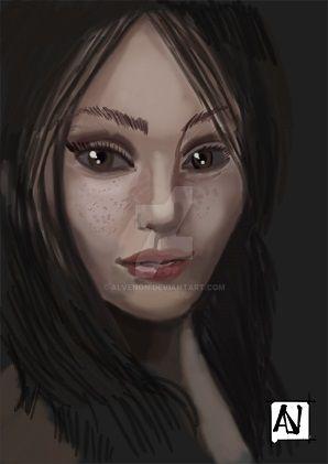 woman #1 sketch by alvenon