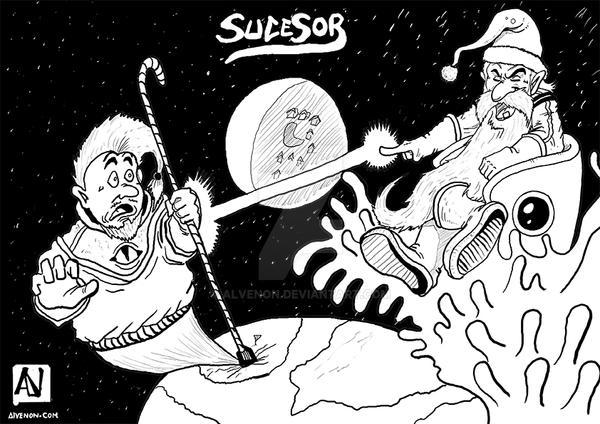 SANTA CLAUS AND SON / PA NOEL Y SU HIJO by alvenon