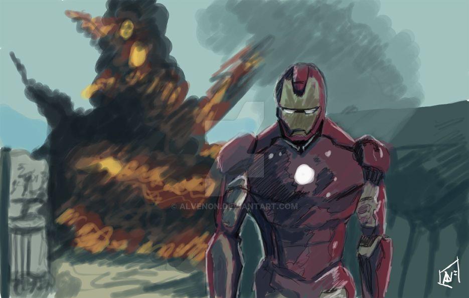 Iron Man Sketch by alvenon
