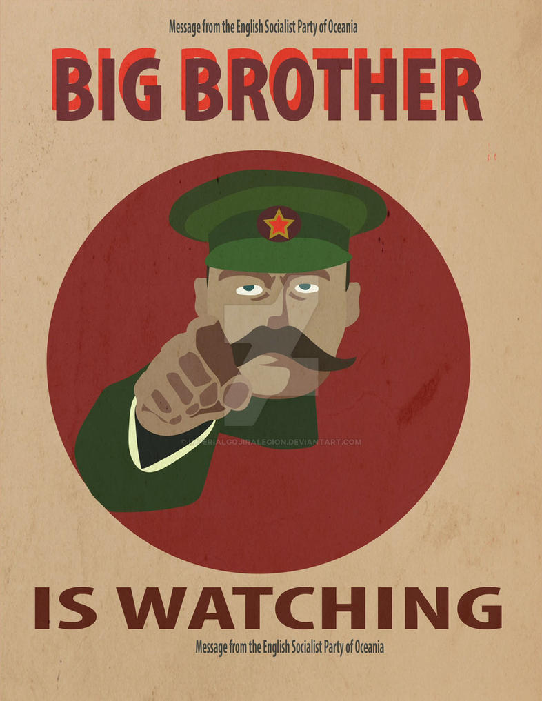 big brother is watching you poster 1984