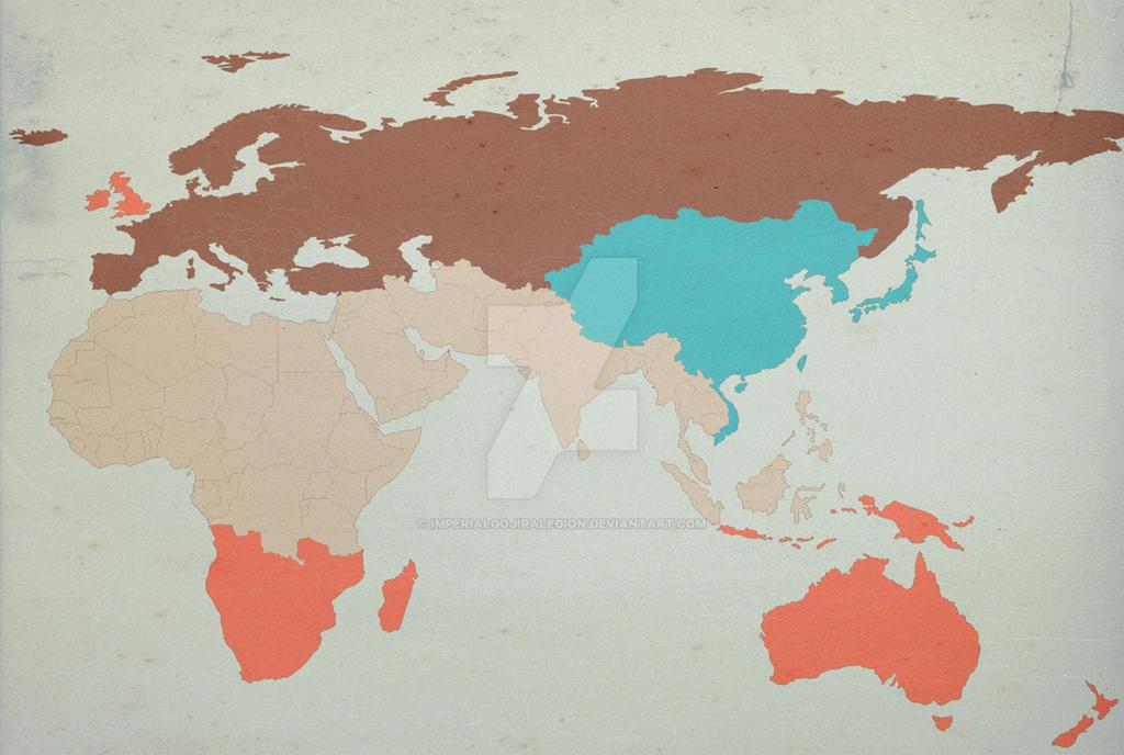 George Orwell\'s 1984 World Map by ImperialGojiraLegion on DeviantArt