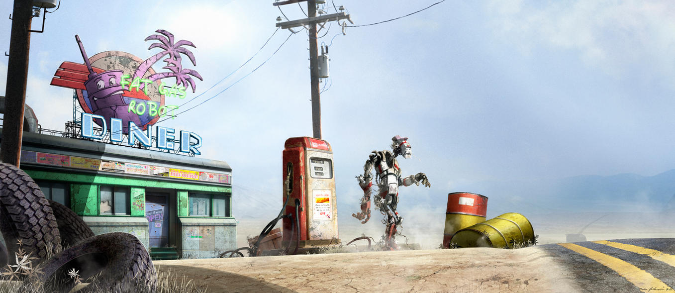 Fat Gas Robot Diner by Madspeitersen