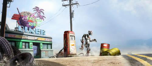 Fat Gas Robot Diner by Madspeitersen