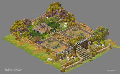 Lilys Garden art. Zen Garden - Broken Version