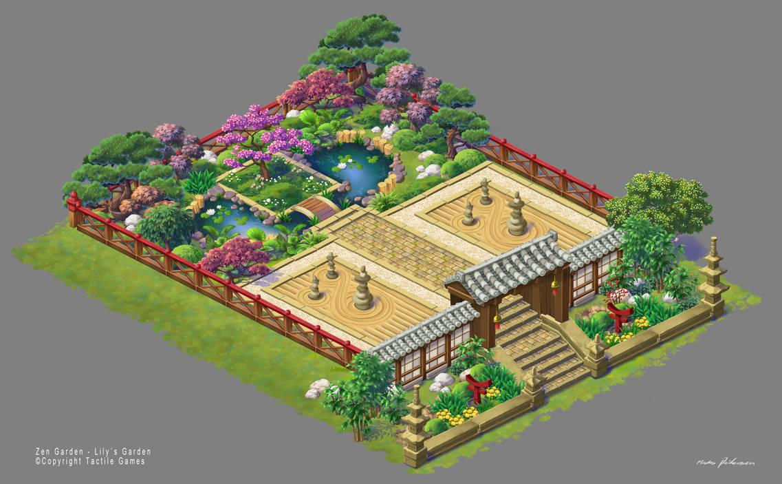 Lilys Garden Art Zen Garden Fixed Version By Madspeitersen On