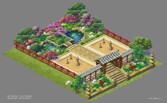 Lilys Garden art. Zen Garden - Fixed Version
