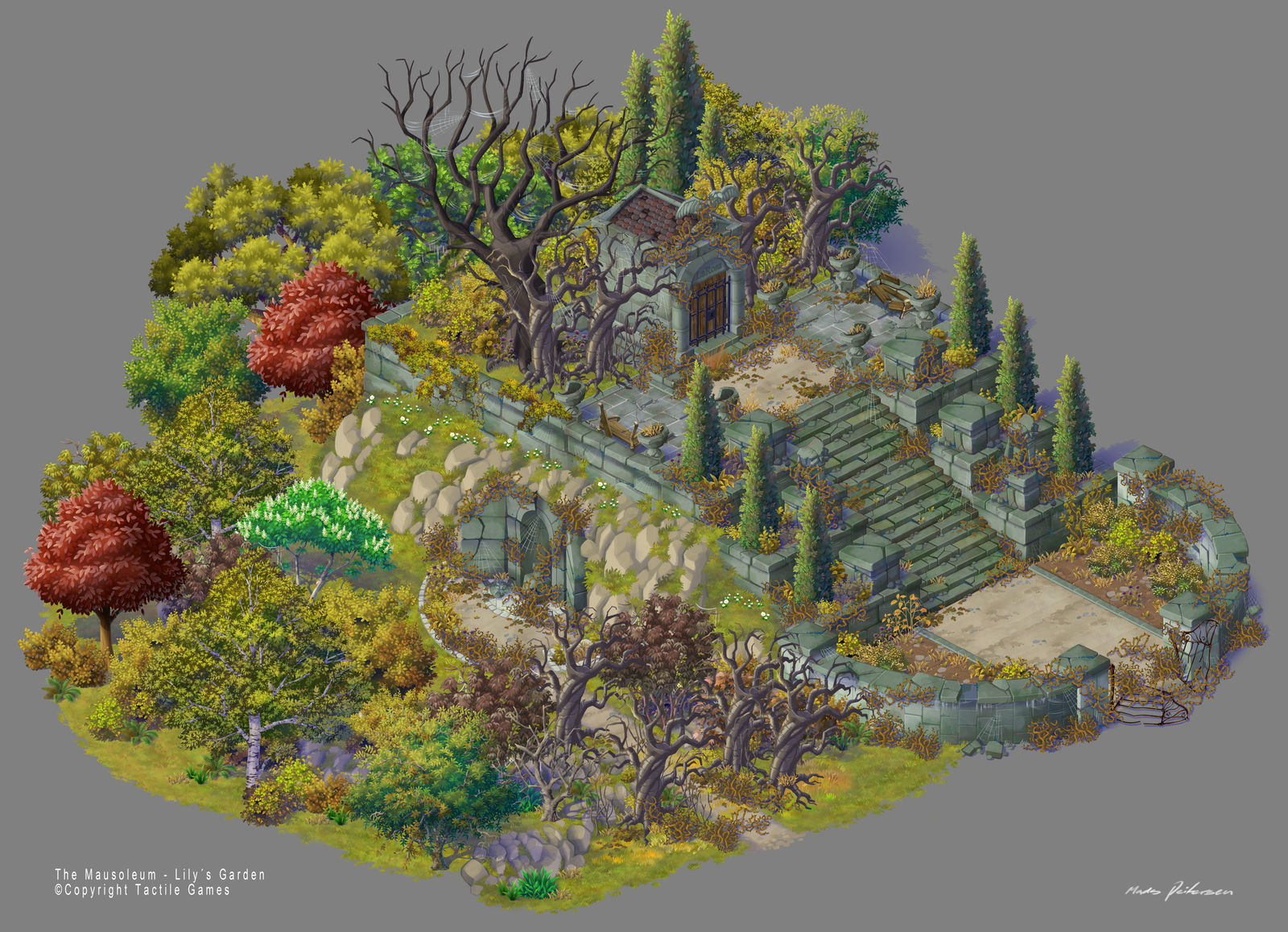 Lilys Garden art. The Mausoleum - Broken Version