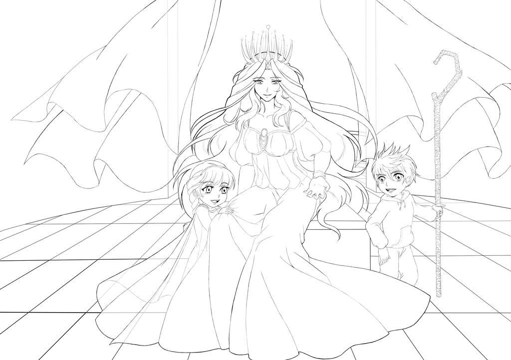 Queen Snow Elsa et Jack Frost by Fanwen