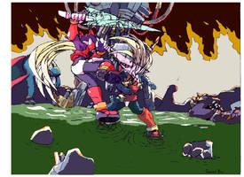 Zero VS Omega Zero by BaiHu27