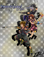 Kingdom Hearts III: Original Trio by BaiHu27