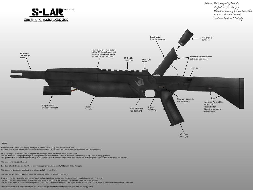 Retexture Combine bullpup pulse gun S-Lar for N. by Milosh--Andrich