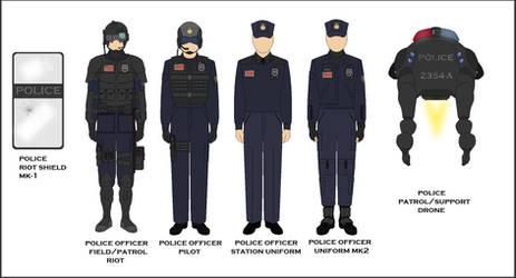 Sci Fi Police Concept