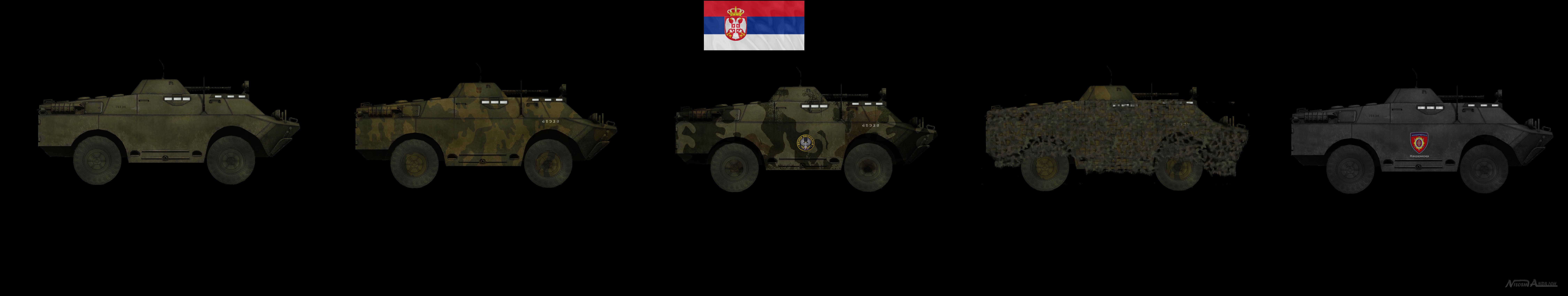Serbian BRDMs by Milosh--Andrich