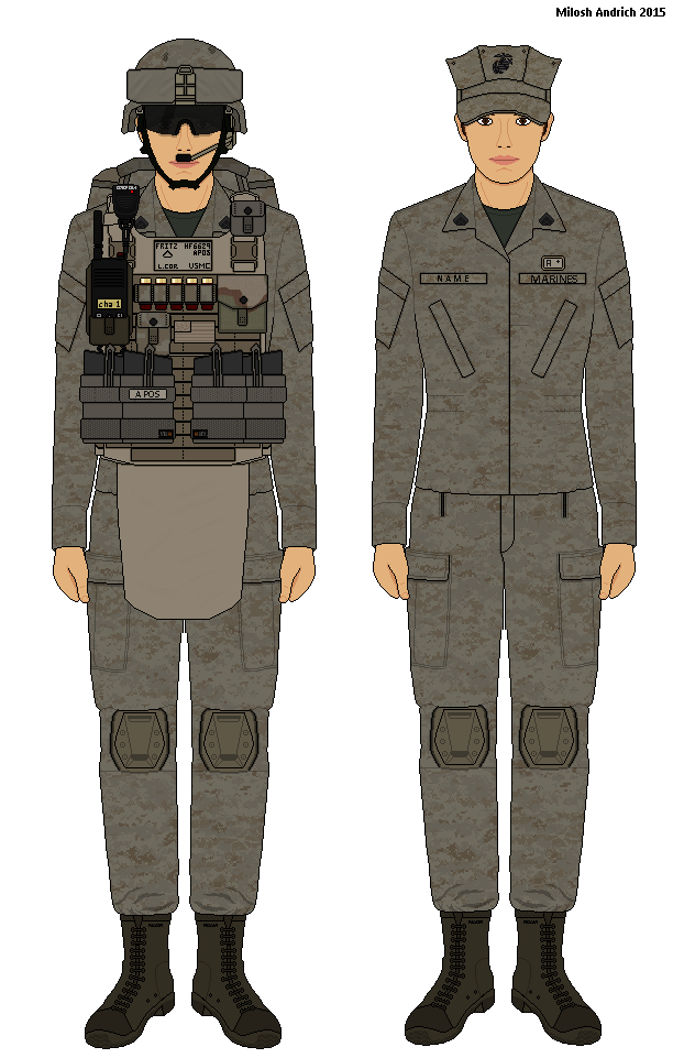 Female USMC Trooper Desert MARPAT by Milosh--Andrich