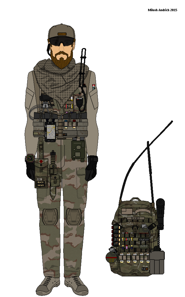 Delta force operator Afghanistan by Milosh--Andrich