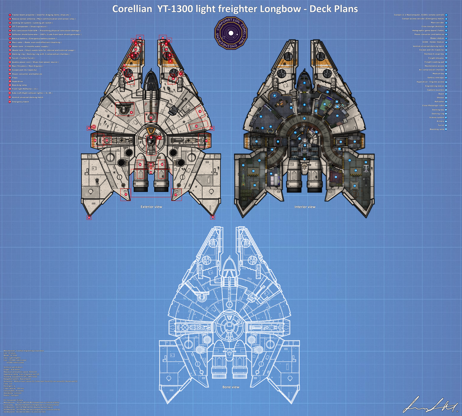 YT-1930 FRP Map full Deck Plans (Miand's Longbow) by Milosh--Andrich