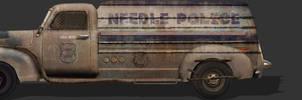Needle town police van 2
