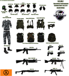 HL1 - H.E.C.U Complimentary weapons and equipment