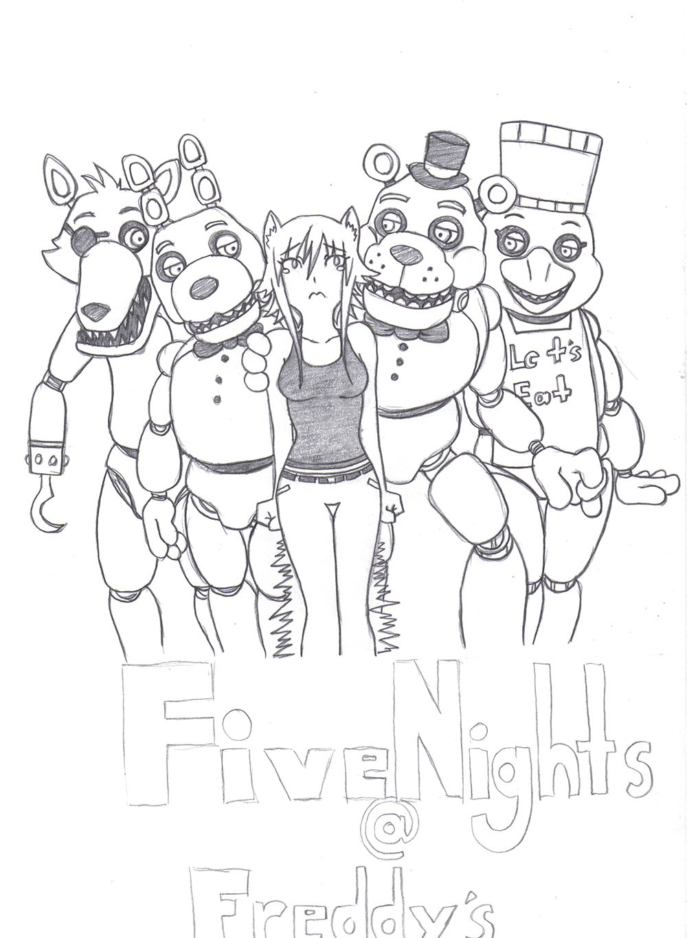 Coloring pictures five nights at freddys 2 cartoon coloring pages - 5 Nights At Freddys All Characters Coloring Pages Sketch Templates