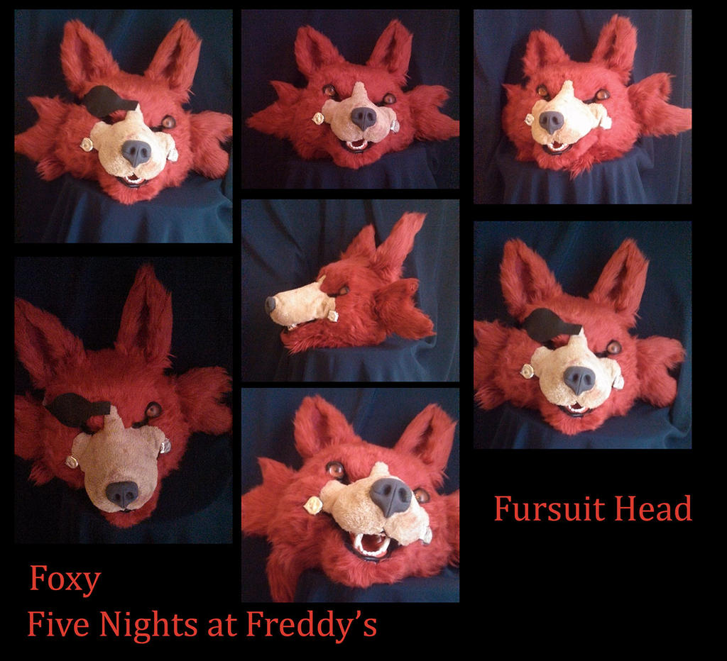 Fnaf freddy head for sale -  Five Nights At Freddy S Foxy Head By Yukisama23