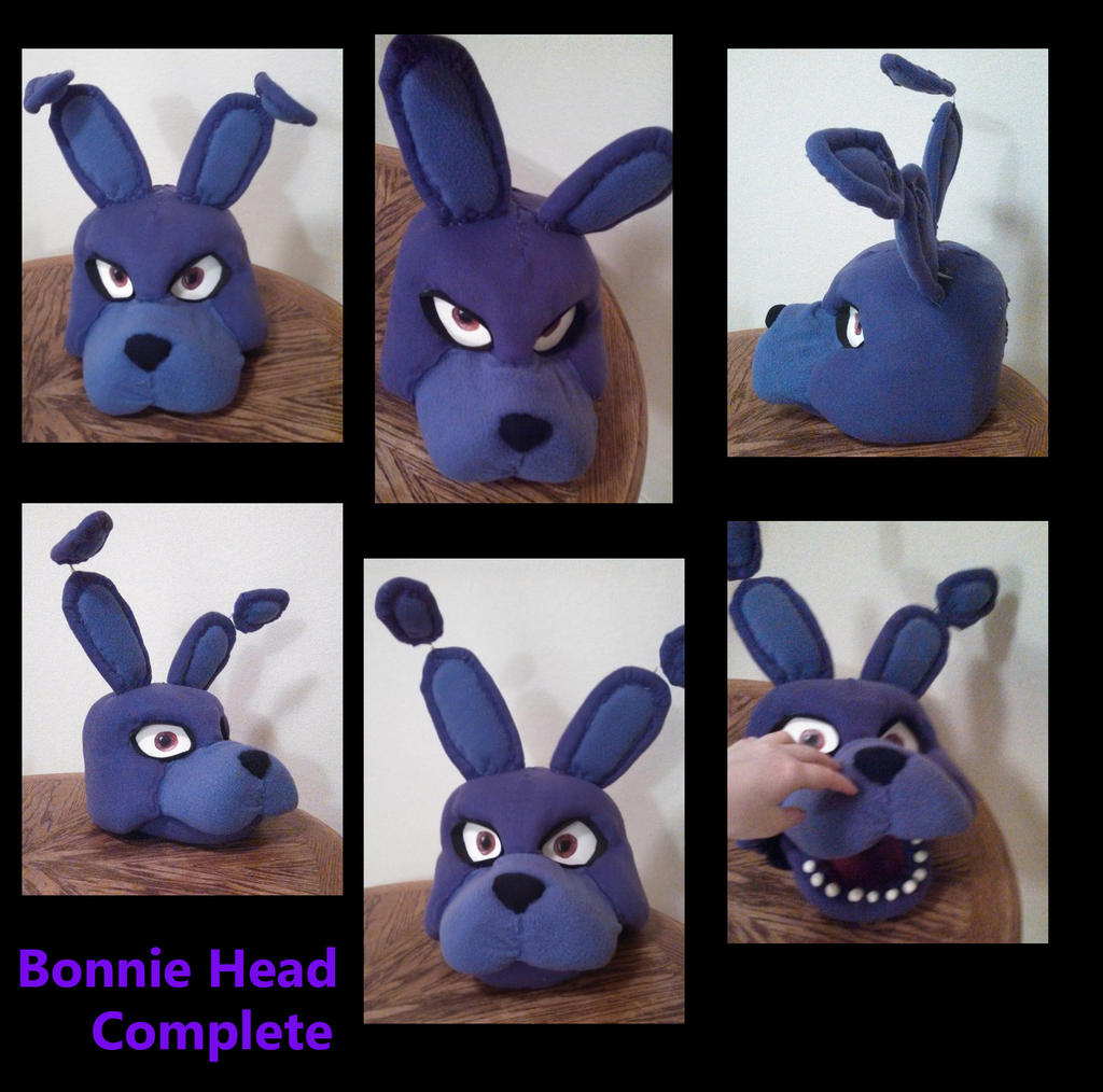 Fnaf bonnie costume for sale - Bonnie Head Complete By Yukisama23 Bonnie Head Complete By Yukisama23