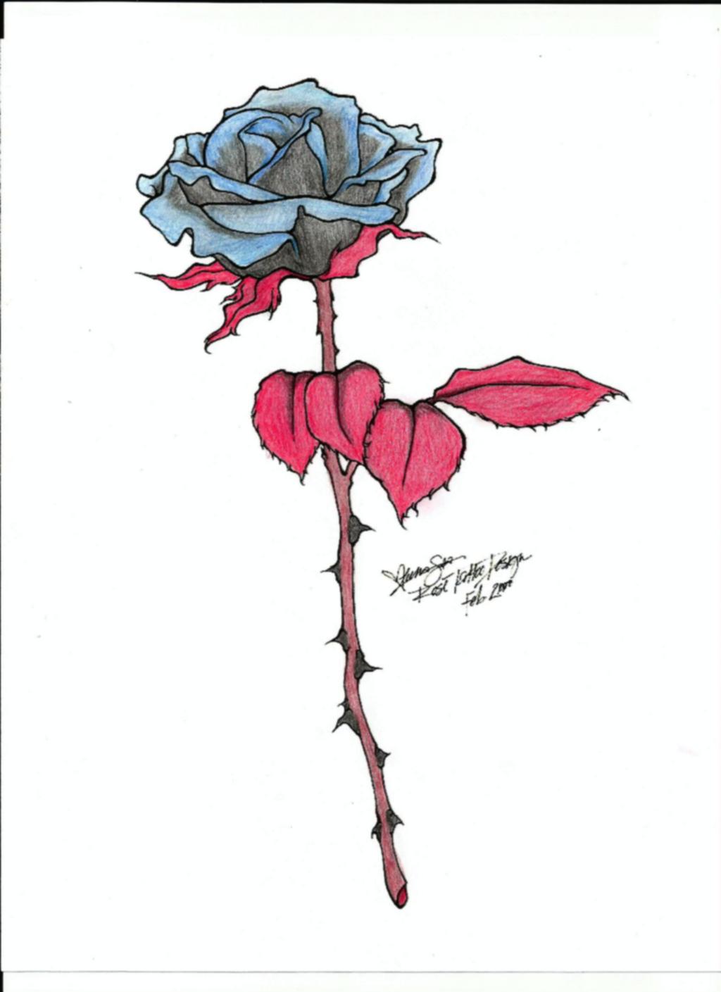Line Art Rose Tattoo : Rose tattoo line art by midnightwolfchild on deviantart