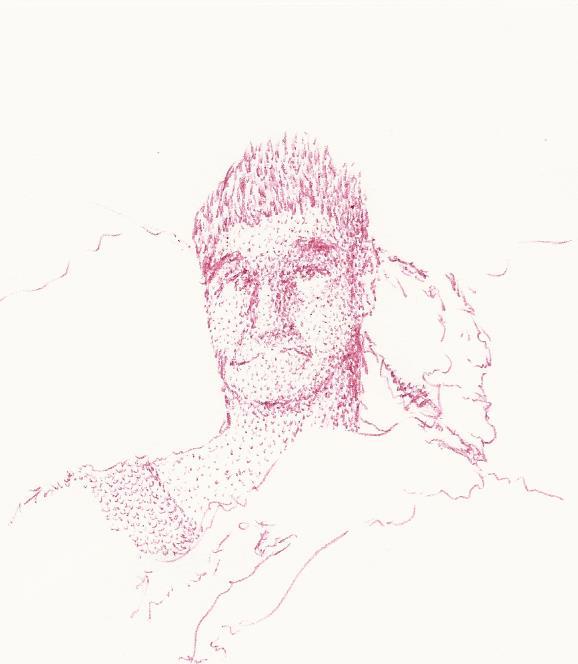 First scan art piece (warrior portrait) by Raidenaut
