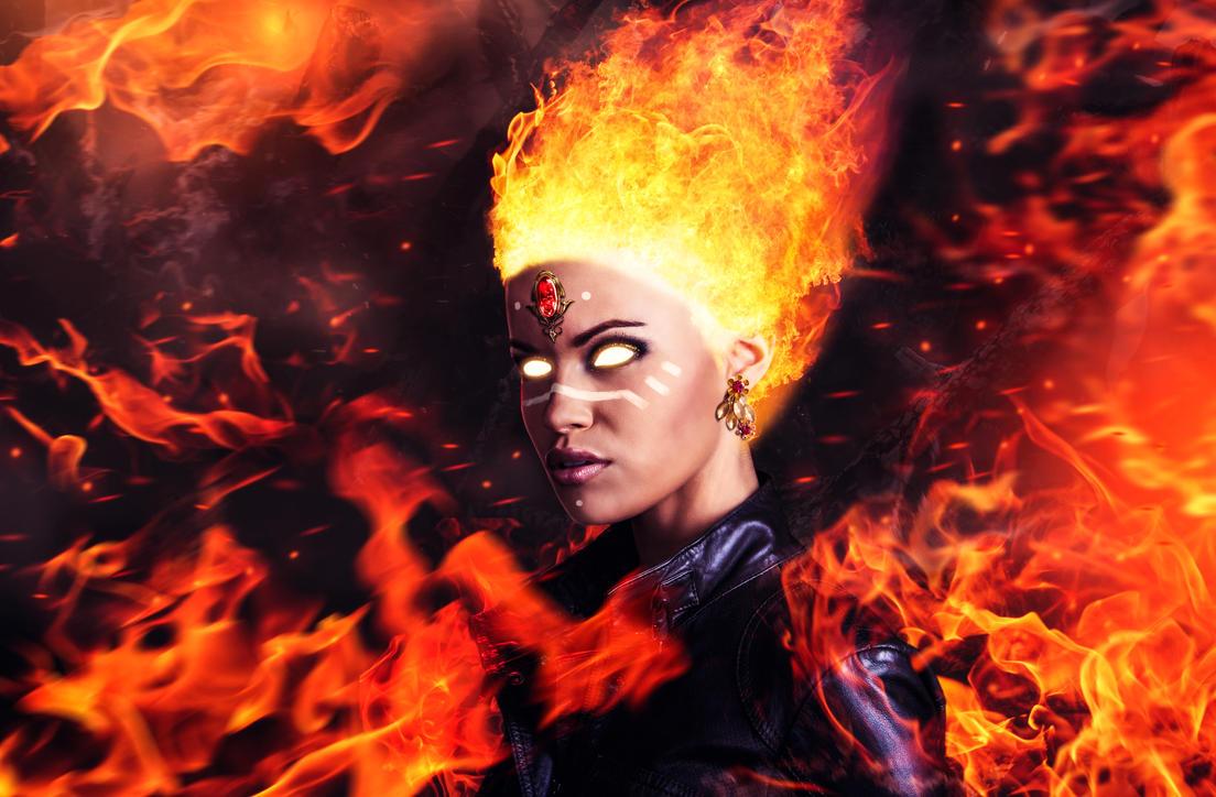 Wallpaper lina, art, slayer, the slayer, girl, dota 2, moba, fire ...