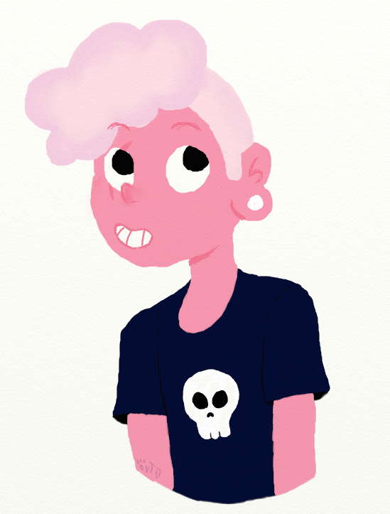 Pink Lars by Violetathedog