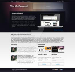Web On Demand - FREE PSD by gerbengeeraerts