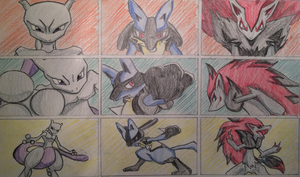 the gallery for gt lucario and zoroark and mewtwo